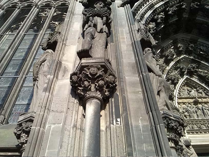 Kölner Dom Detail der Front