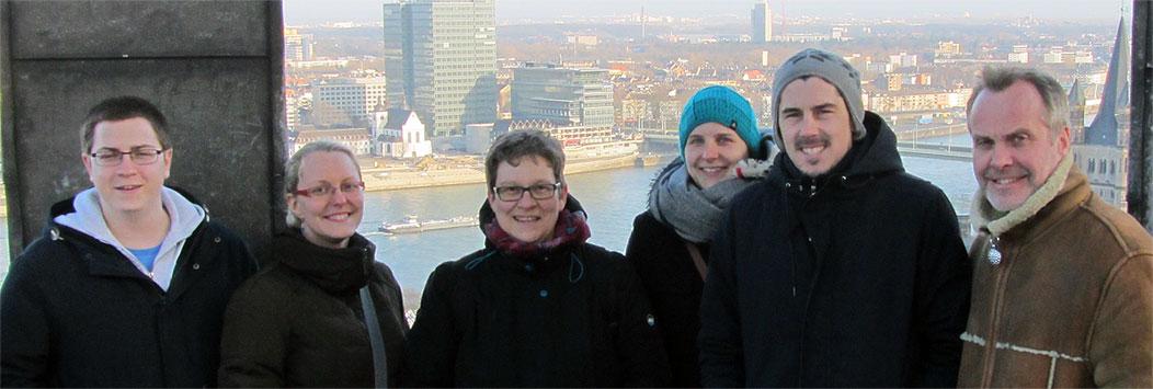 Highländer Reisen auf dem Dach des Kölner Doms