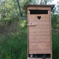 Eifel-Trekking: Zeltstelle mit Toilette