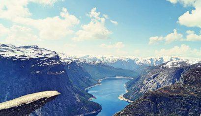 Aufstieg zur Trolltunga in Norwegen über den Himmelstigen