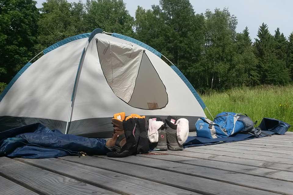 Trekking mit Zelten in der Eifel