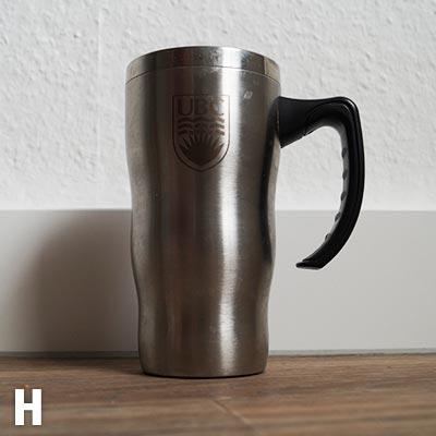 Bürotasse H - Klar, wer den Kaffee immer leer macht!