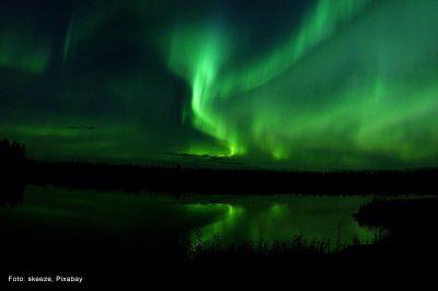 Flackerndes Nordlicht