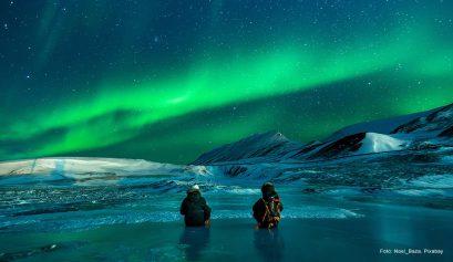 Nordlicht über Svalbard
