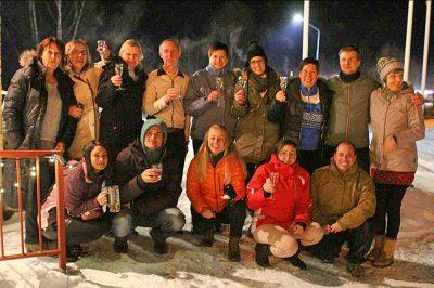 Highländer-Reisegruppe