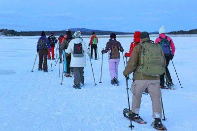 Schneeschuhwanderung bei Winterreise