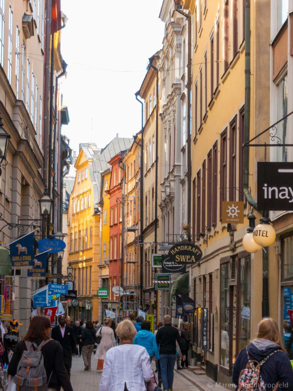 In der Altstadt von Stockholm