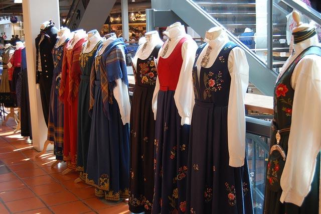 Traditionelle norwegische Tracht