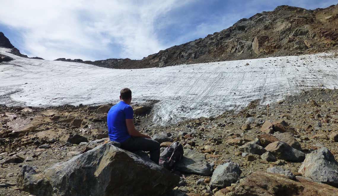 Eisfeld am Rifflferner in den Alpen