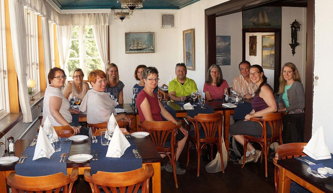 Beim Lunch mit Viveca Sten auf Sandhamn