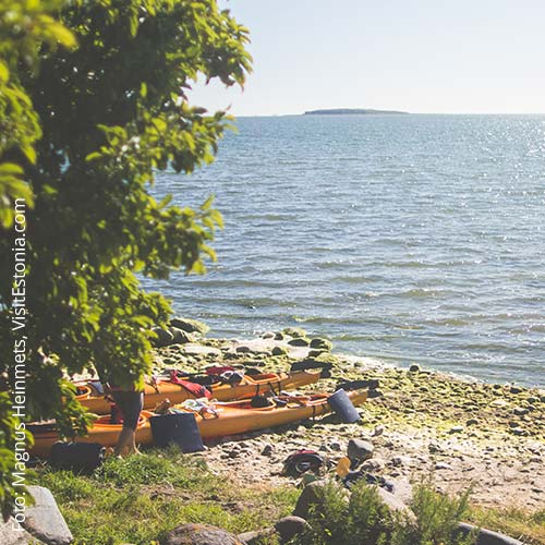 Kajak-Tour auf Hiiumaa an der Westküste von Estland