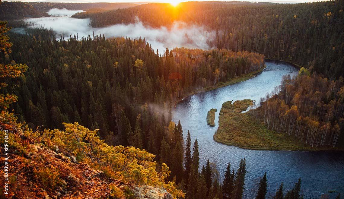Oulanka Nationalpark in Finnisch Lappland