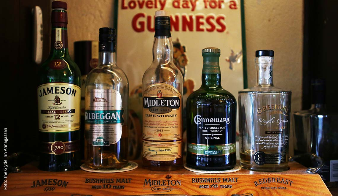 Auswahl an irischen Whiskey