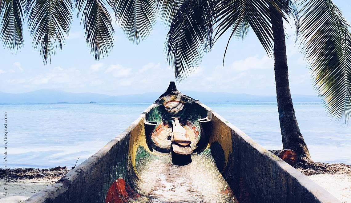 Ein Boot in der Karibik
