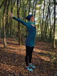 Yoga-Übung Schultergruß Teil 7