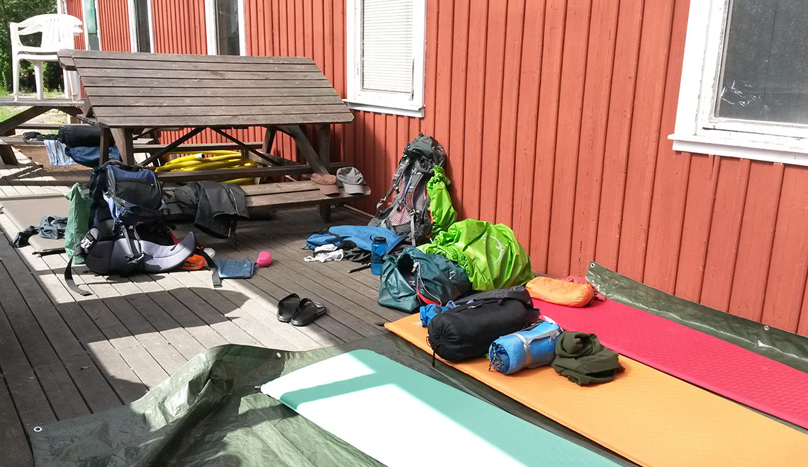 Bohusleden Idylle im Sonnenschein Schlafplatz Kanuclub