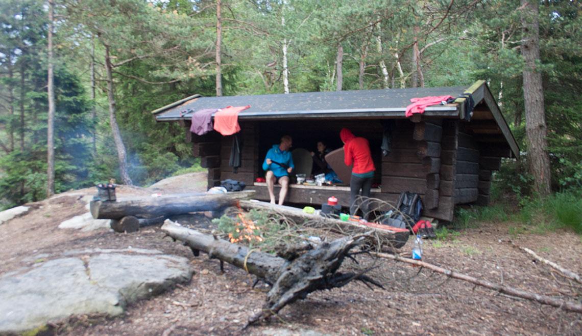 Schutzhütte auf dem Bohusleden