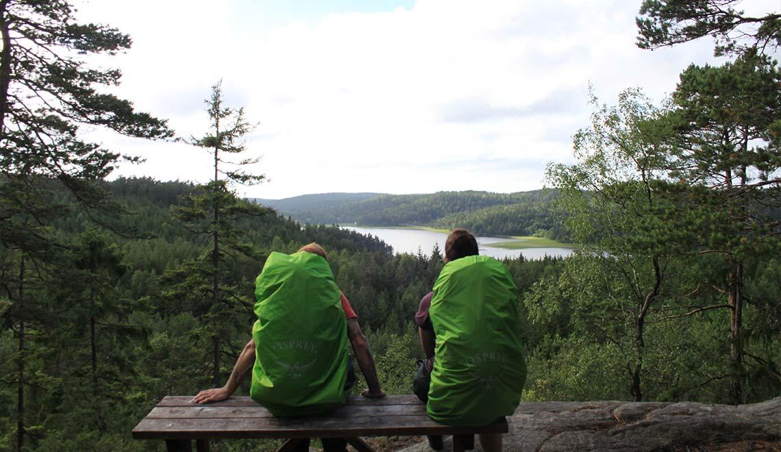 Bohusleden Wanderpause mit Aussicht