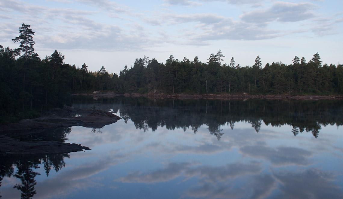 Bohusleden See in der Dämmerung