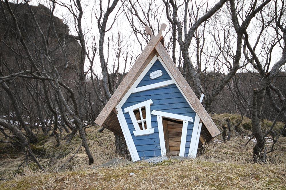 Eine kleine Hütte in Island
